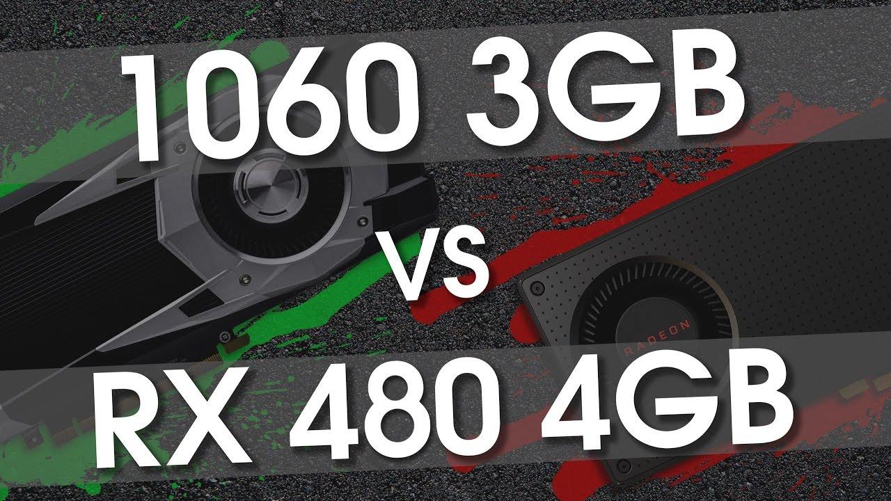 GTX 1060 3gb против RX 480 4Gb (i7 6700@4.8) во всех новых играх