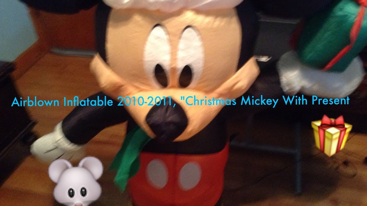 Rare Airblown Inflatable 2010 2011 4 Feet Tall Mickey Mouse