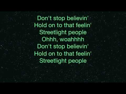 Journey - Don't Stop Believin' w/ Lyrics (Midnight Train)