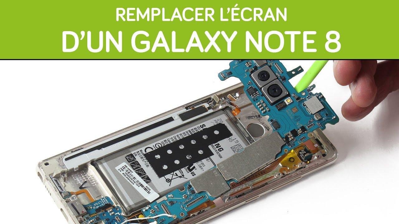 remplacer l 39 cran de son samsung galaxy note 8 by sosav youtube
