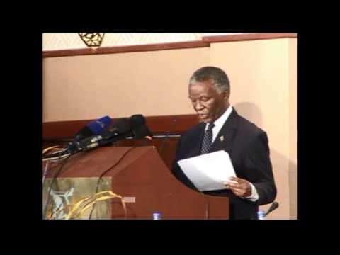 HON. THABO MVUYELWA MBEKI speech at Zimbabwe Diamond Conference 2012