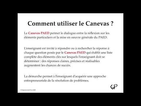 Webinar Canevas - PAED