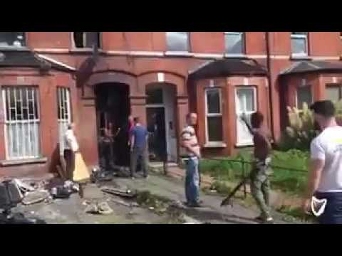 African Immigrants fight Irish Landlord With Weapons