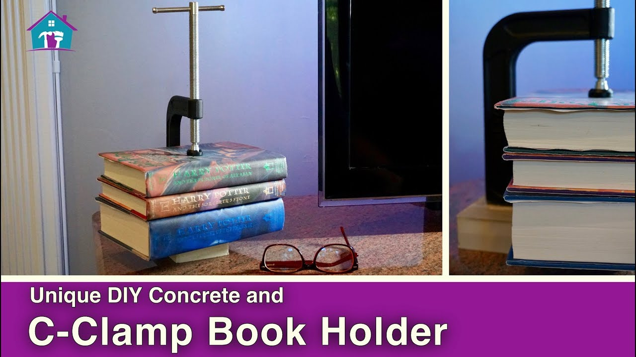 Diy Modern Clamp Concrete Book Holder