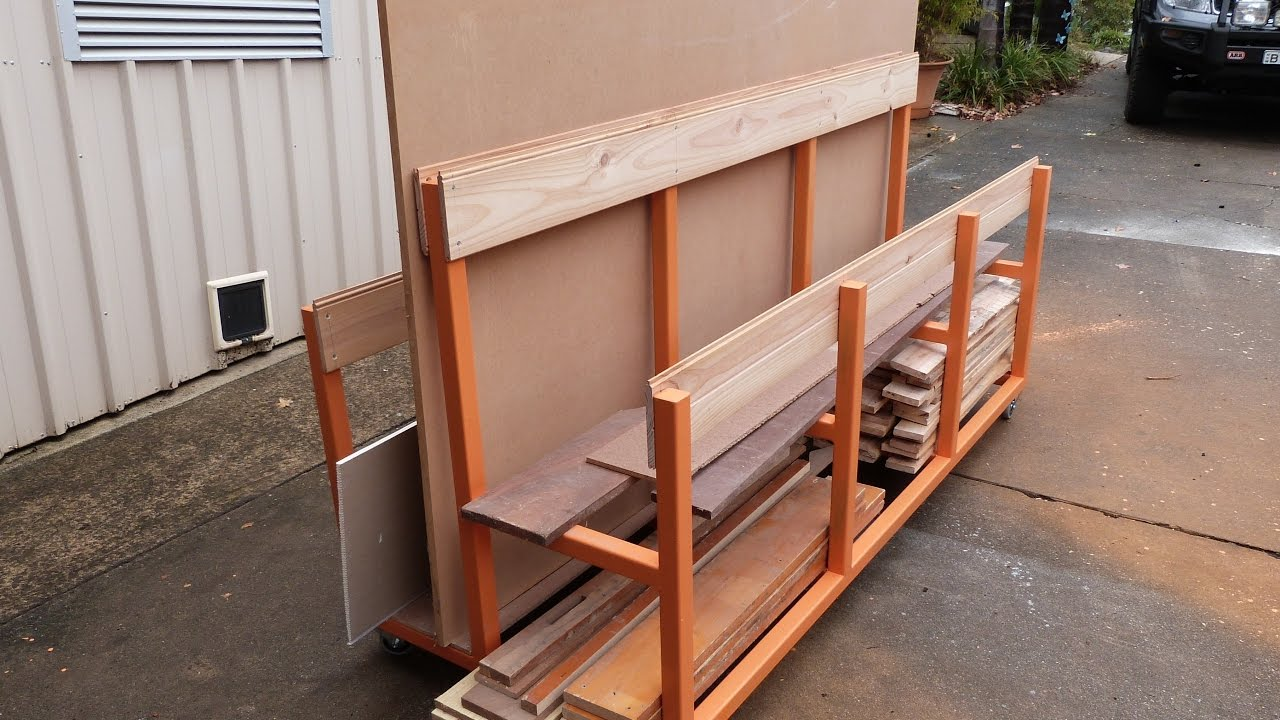 Rolling Lumber Rack For Woodwork Timber And Sheet Storage