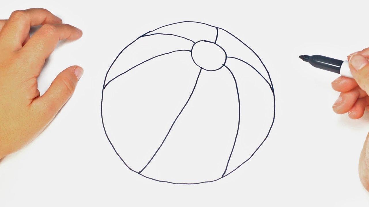 Cómo Dibujar Un Balón De Fútbol Fácil: Cómo Dibujar Un Pelota Paso A Paso