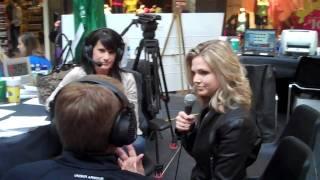 Jill Morgan visits Z99 Radiothon