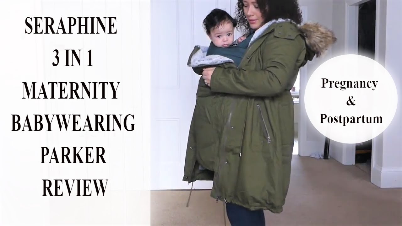 96a977401c491 Seraphine 3 in 1 Maternity Babywearing Parka Coat, Pregnancy ...