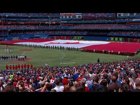 MIL@TOR: Blue Jays Celebrate Canada Day Before Game
