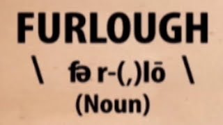 Furlough | Word for the Day