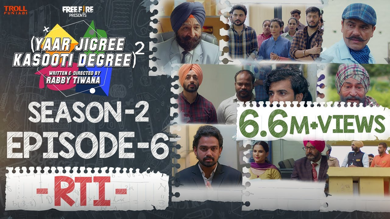 Download Yaar Jigree Kasooti Degree Season 2 | Episode 6 - RTI | Latest Punjabi Web Series 2020