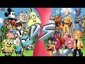 CARTOON vs ANIME TOTAL WAR (Bill Cipher, Gumball, Spongebob, Ben 10 vs Goku, Saitama, Naruto & More)
