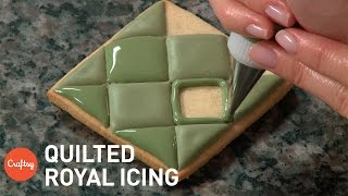 Quilted Royal Icing Effect | Cookie Decorating Tutorial with Amber Spiegel