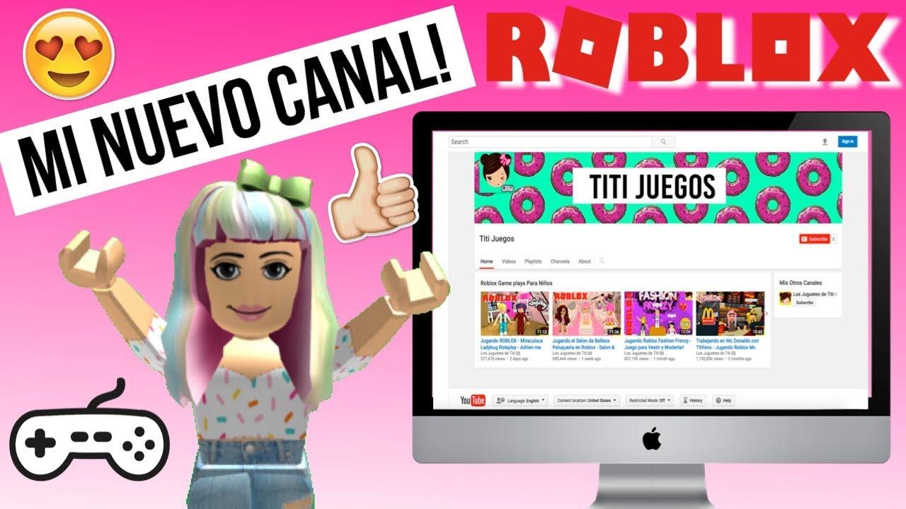 Mi Nuevo Canal De Juegos Para Ninos Roblox Roleplays Series