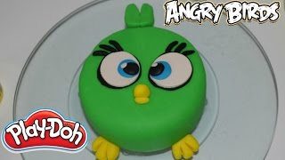 Play Doh| Angry birds cake| Como hacer un pastel bebe angry birds de plastilina| Salila show