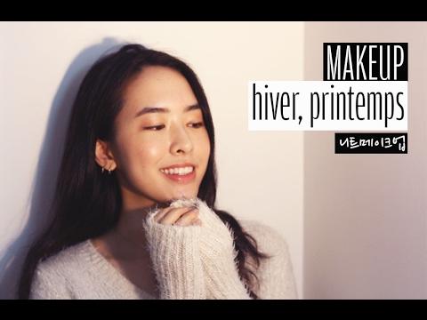 자막)French)Makeup hiver☃️, printemps🌸 니트메이크업 | Bonne nuit 본뉘