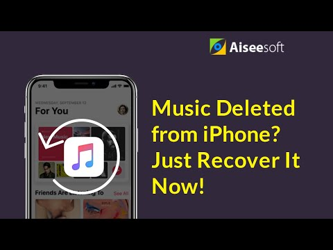 [2 Minutes] Music deleted from iPhone? Just recover now!