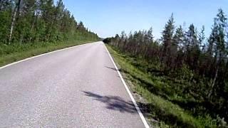 Motorrad in Lappland Finnland (3)