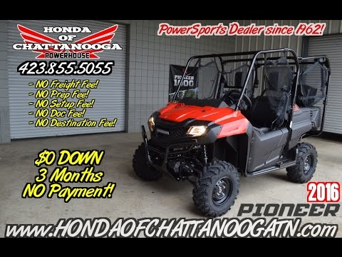 2016 honda pioneer 700 4 start up seat demo side by. Black Bedroom Furniture Sets. Home Design Ideas