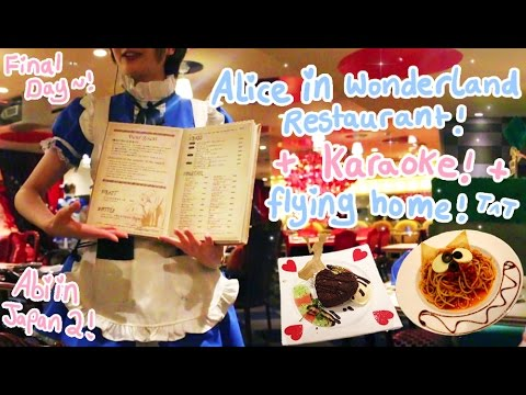ALICE IN WONDERLAND RESTAURANT?!! | The Final Day - | Karaoke | Flying home | Abipop in Japan 2015 ♡