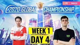 [Bahasa] PMGC 2020 League W1D4 | Qualcomm | PUBG MOBILE Global Championship | Week 1 Day 4