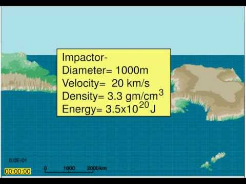 400 metre Asteroid Impact in the Pacific Ocean in HD Im ...