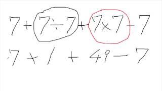 Twitterで話題になり、ビロガーのアリさんも取り上げた話題です。 7+7÷7...