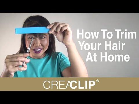 How To Trim Your Hair At Home - Original CreaClip Hair Cutting Tool