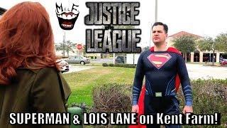 SUPERMAN & LOIS LANE on Kent Farm Scene Parody! Epic Justice League Spoof