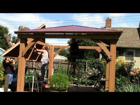 Costco Yardistry 12x12 Cedar Gazebo Posts Beams Gussets Part1 2017 06 Youtube