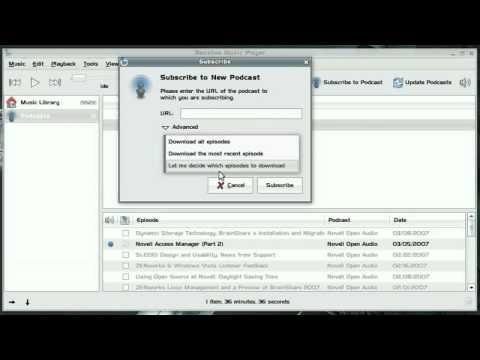 استخدام بانشي لتشغيل ملفات البودكاست والراديو