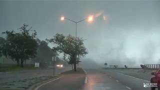 Incredible Waterspout Makes Landfall! 4 14 18 Long Beach, MS