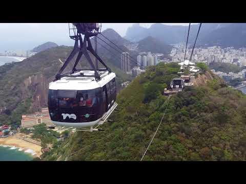 Sugar loaf mountain. Rio de Janeiro. Cable car ride.