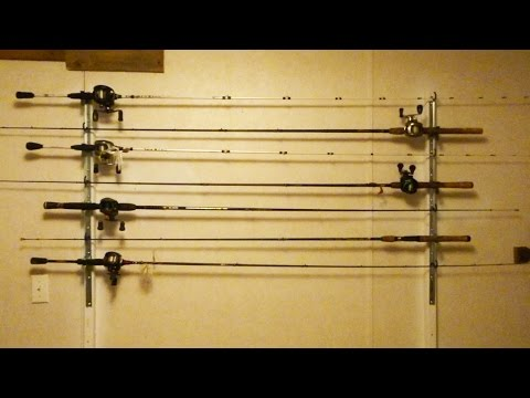 DIY Fishing Rod Storage For The Wall