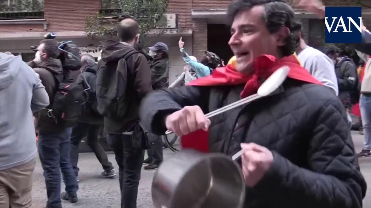 Manifestación en plena pandemia en Madrid