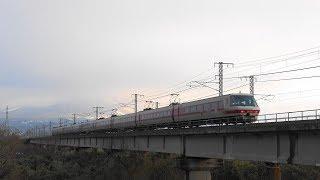【パノラマ9両編成】JR西日本 381系電車『 [1024M] 特急 やくも24号 岡山行き』曇り大山バックに鉄橋通過!! (2019/01/02)