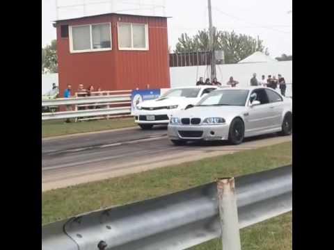 Camaro SS Vs E46 M3 Drag Race.