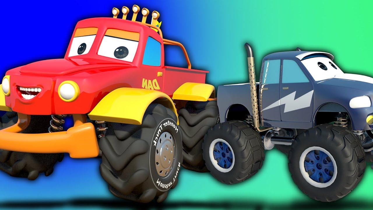 Siamo il monster truck cartoon per i bambini video educational