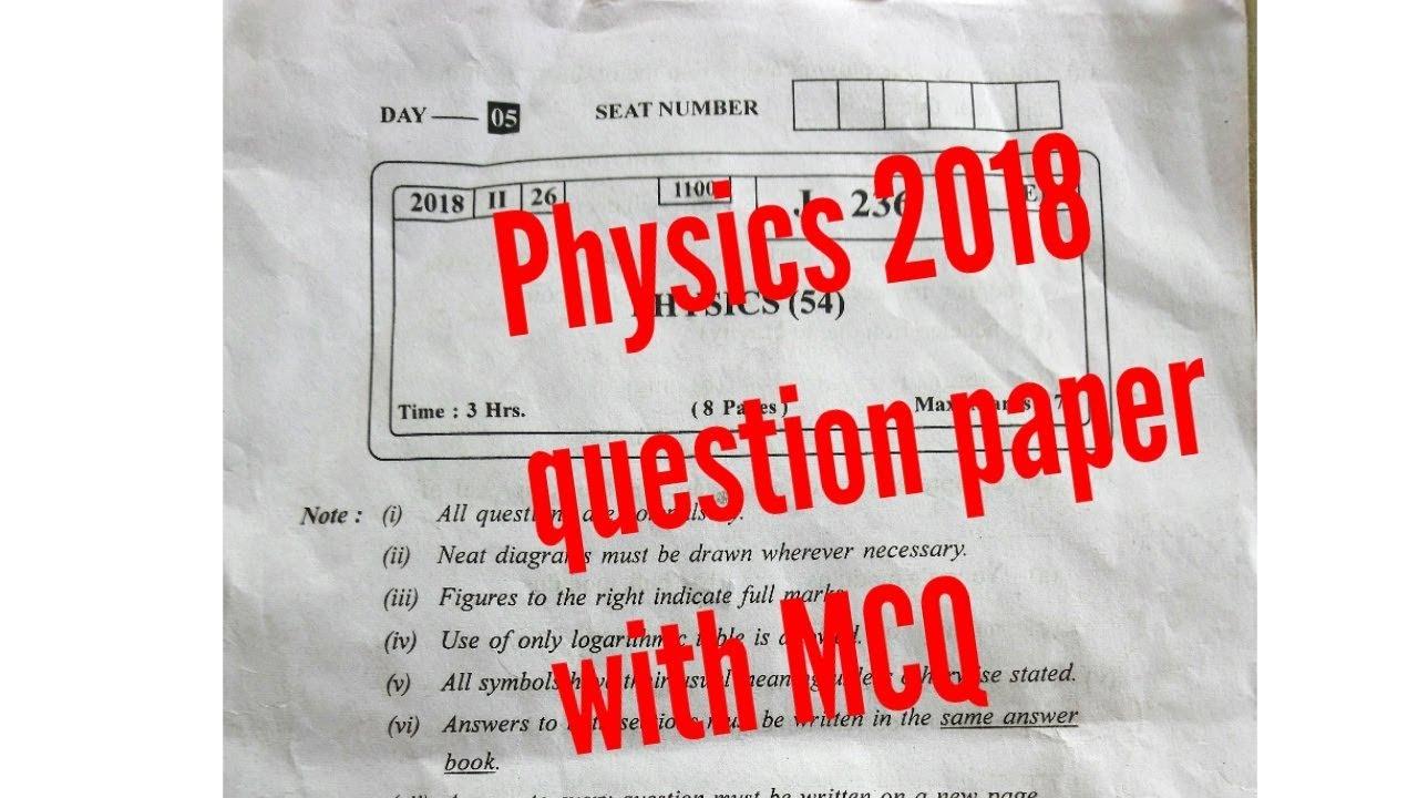 Physics Paper 2018 Hsc Youtube