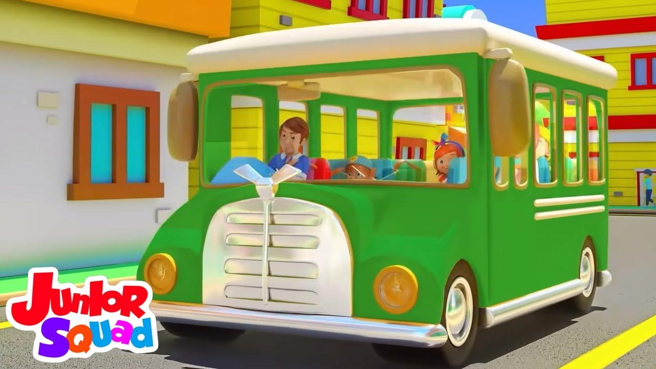 Ruote sull'autobus | Cartoni animati | Junior Squad Italiano | Canzoni per bambini