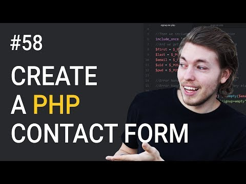 58: How To Create A PHP Contact Form | PHP Tutorial | Learn PHP Programming | HTML Contact Form