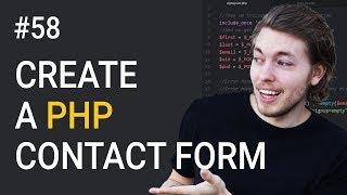58: Comment Créer UN Formulaire de Contact PHP | PHP Tutorial | Apprendre la Programmation en PHP | HTML Formulaire de Contact