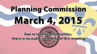Planning Commission   March 4, 2015