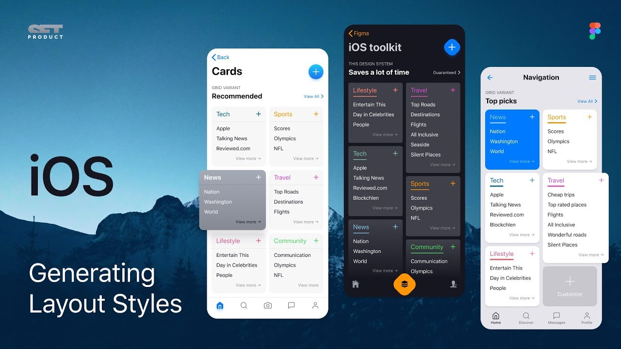 iOS app UI design  Generating more layouts by adding styles