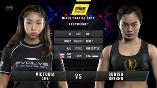 16-year-old Victoria Lee vs. Sunisa Srisen: ONE Fists of Fury (FULL MATCH)