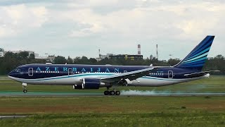 Azerbaijan Government - Boeing 767-300ER landing at Warsaw Chopin Airport [NATO Summit 2016]