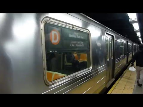 FASTRACK IND 8th Ave Line: R68A D Train at 42nd St-PABT (Late Night)
