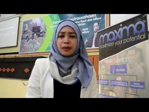 Seminar entrepreneur Pegadaian ft. Maxima di Gorontalo untuk UKM