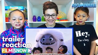 d-three KIDS React to ABOMINABLE Official Trailer