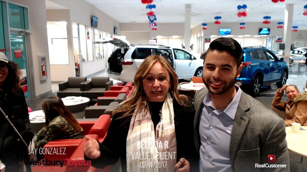 Belinda Reviews Westbury Toyota And Jay Gonzalez